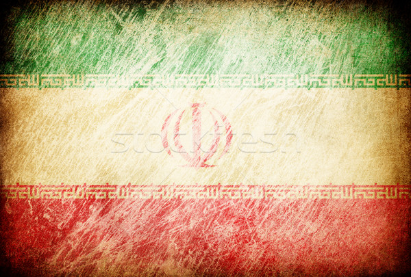 Grunge rubbed flag series of backgrounds. Iran. Stock photo © pashabo