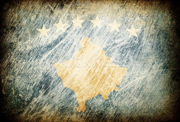 Grunge bandeira fundos Kosovo textura digital Foto stock © pashabo