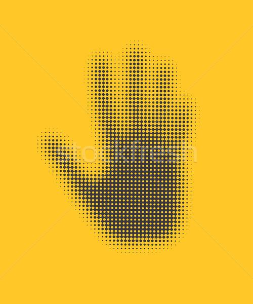 Hand icon on yellow background . Vector, EPS8 Stock photo © pashabo