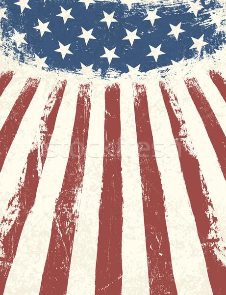 Amerikan bayrağı vektör doku dizayn sanat Yıldız Stok fotoğraf © pashabo