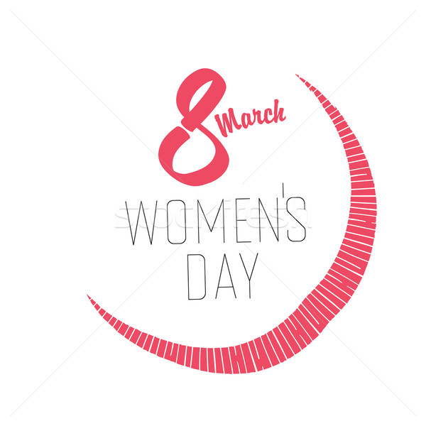 8 March, Women's Day Card Stock photo © pashabo