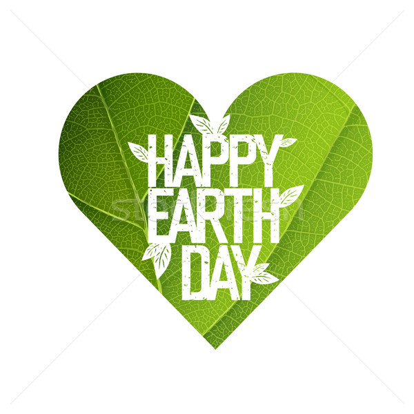 Earth Day Concept Design. Happy Earth Day logotype template. Gr Stock photo © pashabo
