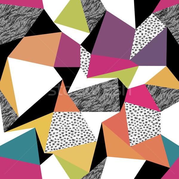 Geometric seamless pattern in retro style. Vintage background. C Stock photo © pashabo