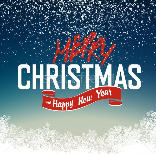 merry_christmas_night_scene Stock photo © pashabo