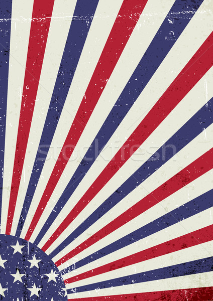 Grunge United States of America flag. Abstract American patrioti Stock photo © pashabo