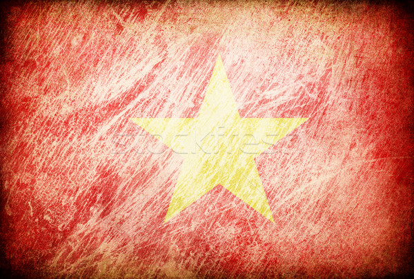 Grunge rubbed flag series of backgrounds. Vietnam. Stock photo © pashabo