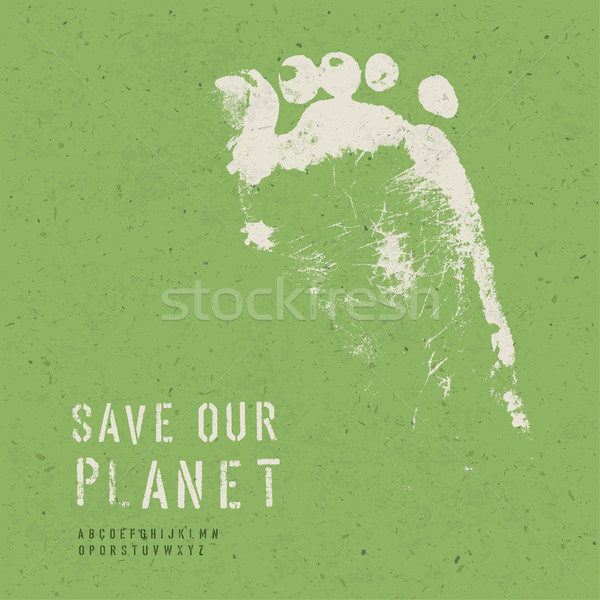 Nature Conservation Poster. With alphabet for headline text. Vec Stock photo © pashabo