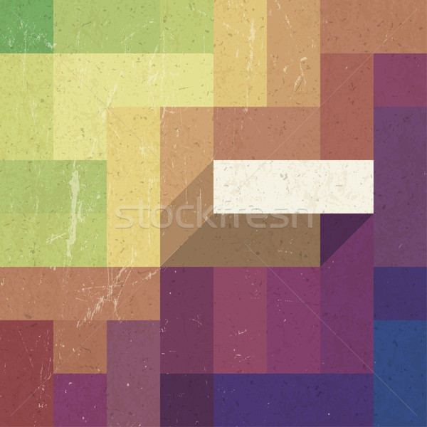 Retro colorful rectangles background, vector Stock photo © pashabo