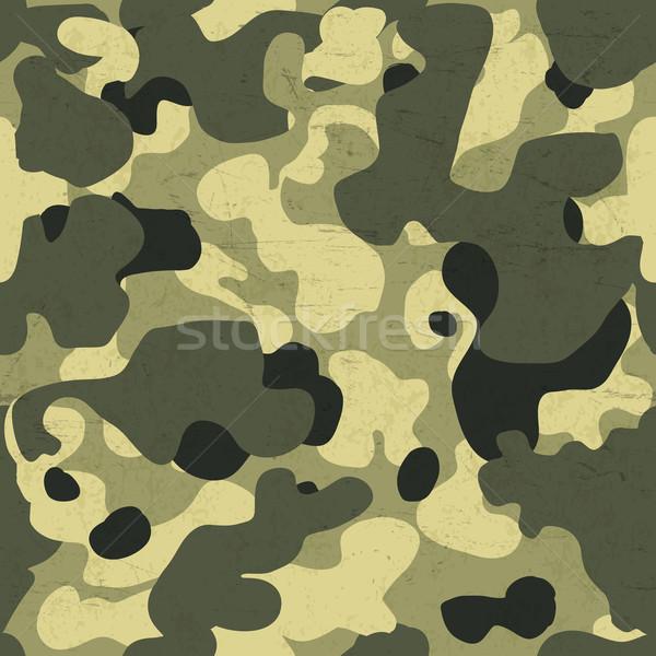 Katonaság álca végtelen minta vektor kopott textúra Stock fotó © pashabo