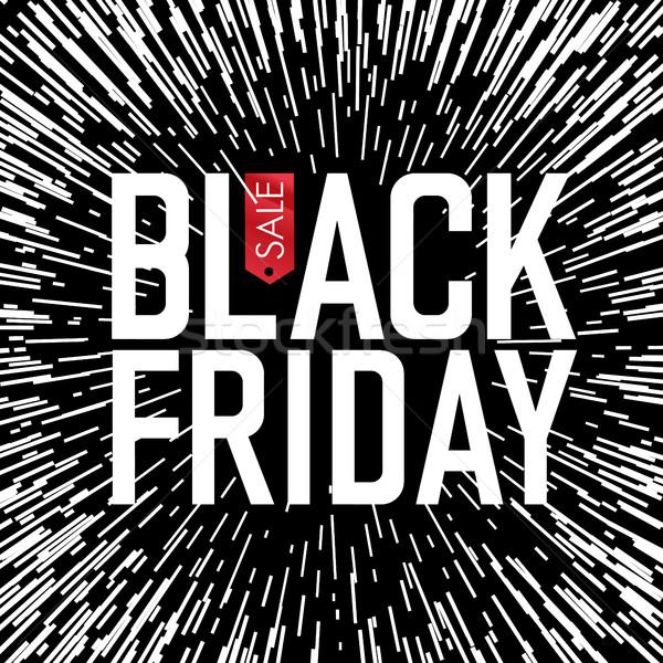 черная пятница типографики Лучи торговых красный черный Сток-фото © pashabo