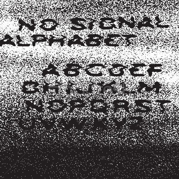 Sinyal alfabe hata yalıtılmış Stok fotoğraf © pashabo