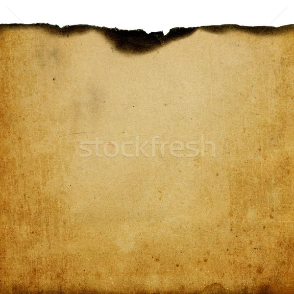 Vintage burned paper background with space for text Stock photo © pashabo