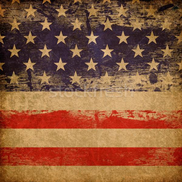Stock photo: Grunge american patriotic theme background.