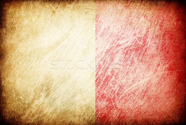Grunge rubbed flag series of backgrounds. Malt. Stock photo © pashabo
