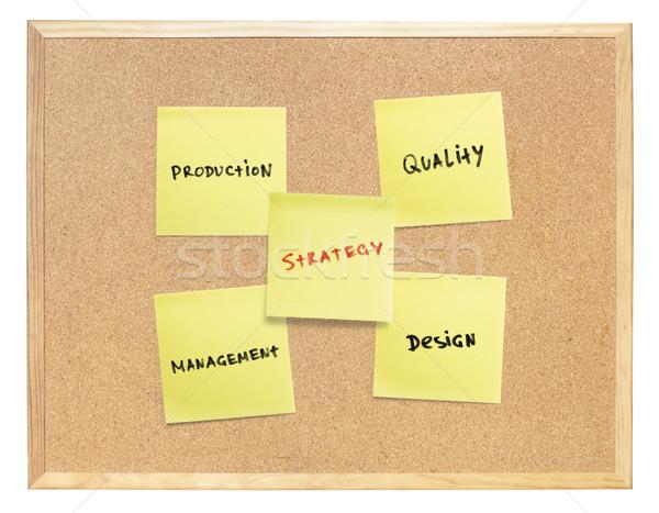 стратегия развивающийся продукции желтый документы изолированный Сток-фото © pashabo