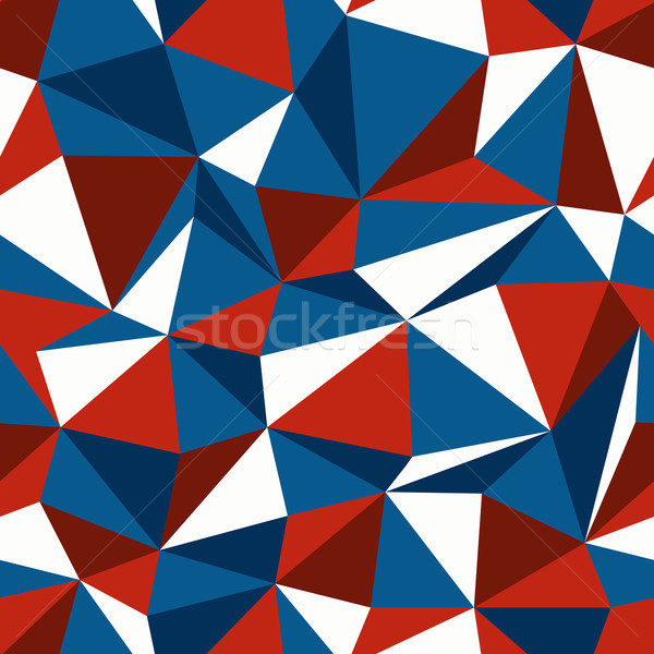 American Patriotic Themed Colors Triangle Seamless Pattern Stock photo © pashabo