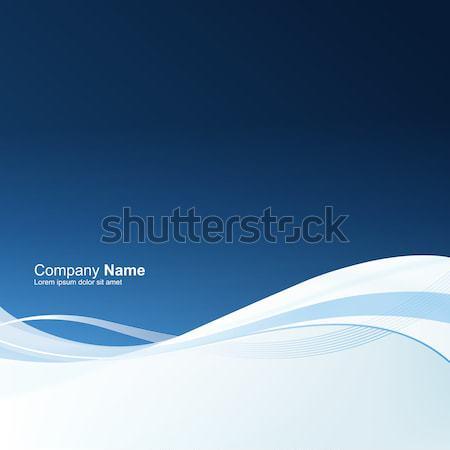 Absztrakt kék mozgás jó pénzügyi éves Stock fotó © pashabo