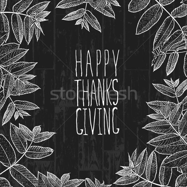 Boldog hálaadás nap terv borító ünnep Stock fotó © pashabo