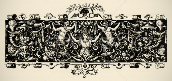 Arabesque, renaissance . Engraving of 16 century. Copyright expi Stock photo © pashabo