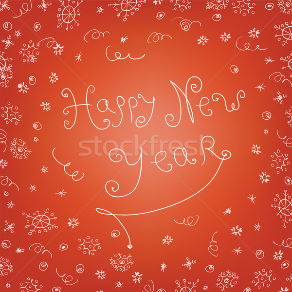 Handwritten quirky new year background Stock photo © pashabo