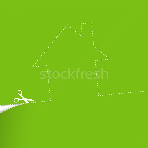 Ecologisch huisvesting illustratie vector gras gebouw Stockfoto © pashabo