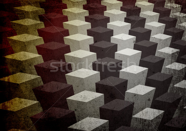Vintage three-dimensional bright colorful stylish background (A4 Stock photo © pashabo