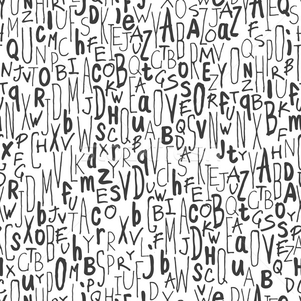 Hand-drawn Alphabet Seamless Pattern Stock photo © pashabo
