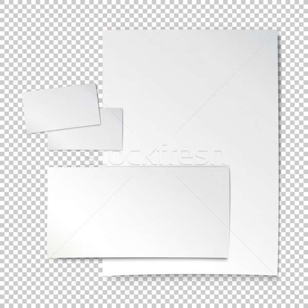 Corporate identity template. Empty letter envelope, business car Stock photo © pashabo