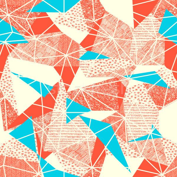 Geometric seamless pattern in retro style. Vintage background.Tr Stock photo © pashabo