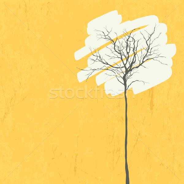 Stilizzato albero retro vettore abstract design Foto d'archivio © pashabo