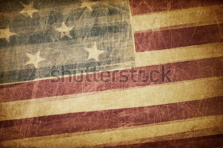 Grunge american flag background. Stock photo © pashabo