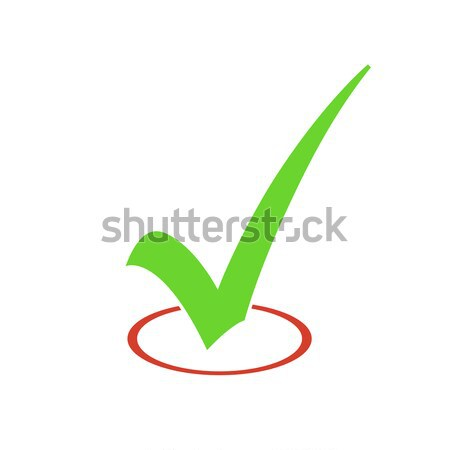 Check Mark Vector Sign Stock photo © pashabo