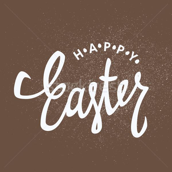 Wesołych Świąt kaligrafia kolorowy jaj wakacje Zdjęcia stock © pashabo