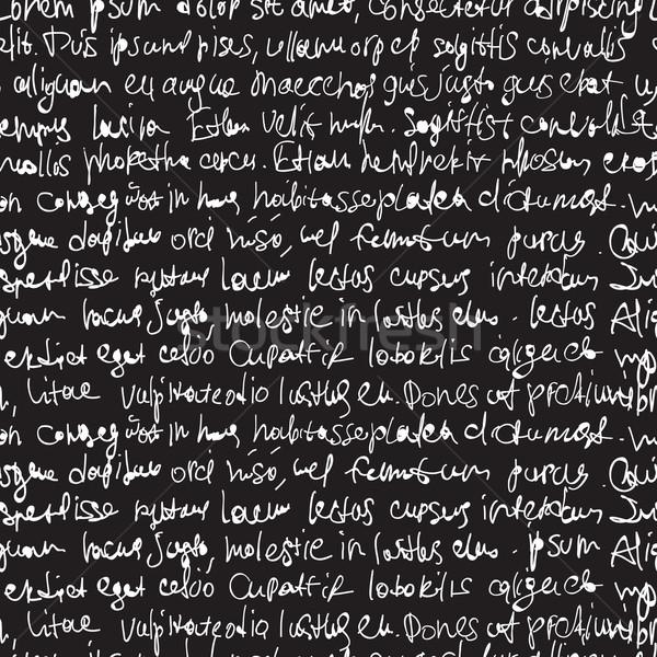 аннотация выразительный почерк черный бесшовный Сток-фото © pashabo