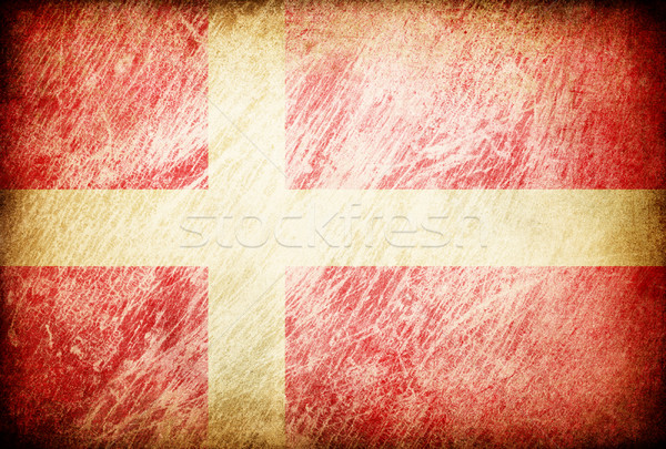 Grunge rubbed flag series of backgrounds. Denmark. Stock photo © pashabo