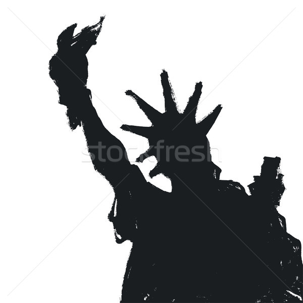 Statue Of Liberty Silhouette, Vector Stock photo © pashabo