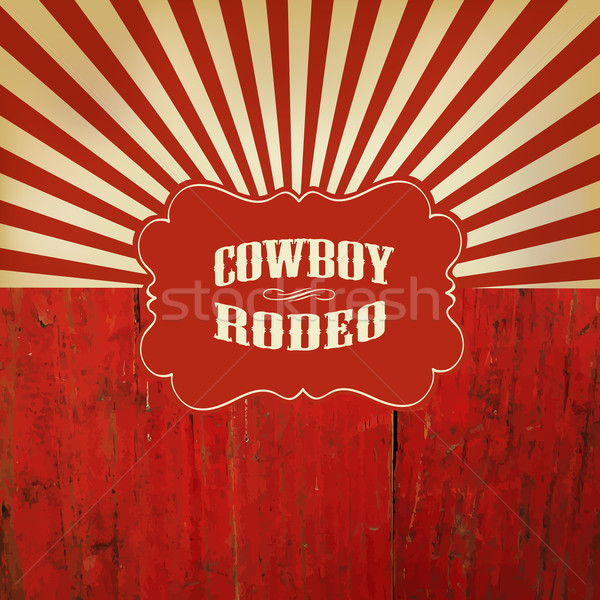 Wild West Rodeo Background. On Red Wooden Fence Stock photo © pashabo