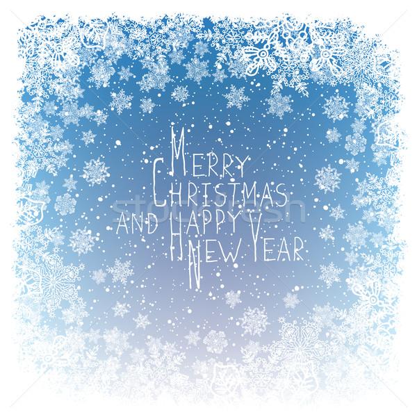 Alegre Navidad saludo año nuevo postal diseno Foto stock © pashabo