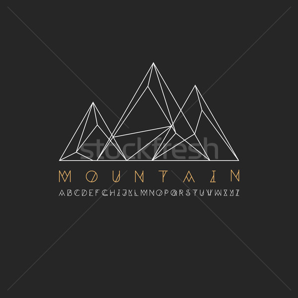 Mountain line icon, outline vector logo illustration, linear pic Stock photo © pashabo