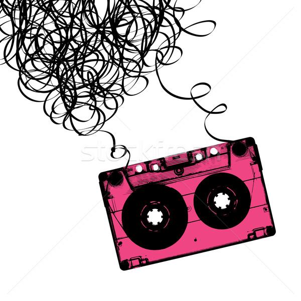 Szalag zene terv művészet sziluett hang Stock fotó © pashabo