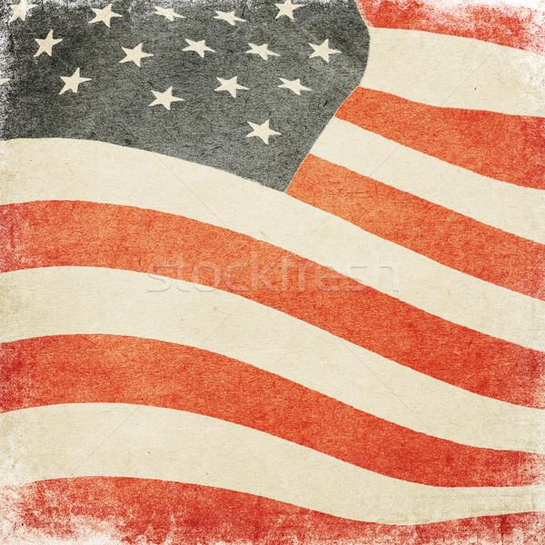 Foto d'archivio: USA · bandiera · texture · blu · rosso · libertà