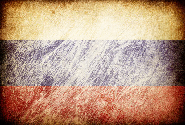 Grunge rubbed flag series of backgrounds. Russia. Stock photo © pashabo