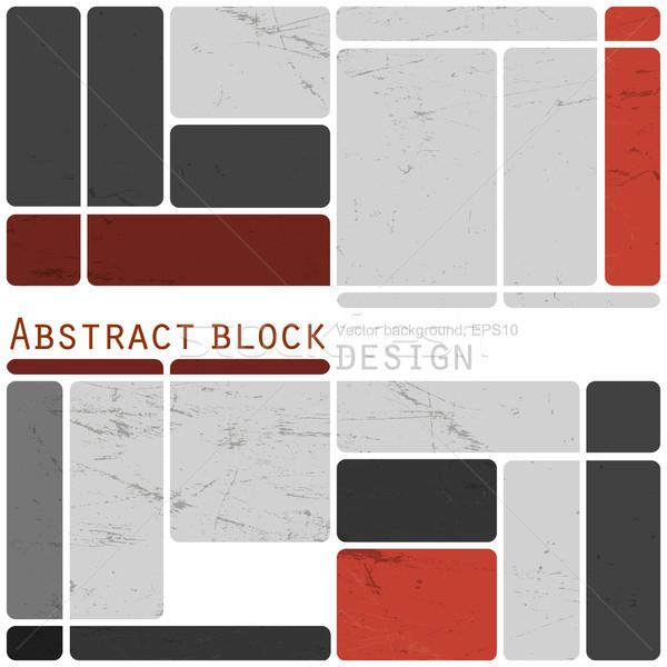 Foto stock: Abstrato · retro · blocos · projeto · colorido · vetor