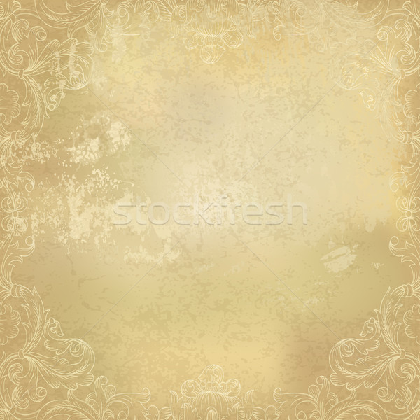 Aged vintage ornamental old paper background. Vector illustratio Stock photo © pashabo