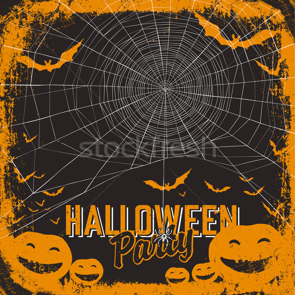Halloween themed party flyer Stock photo © pashabo