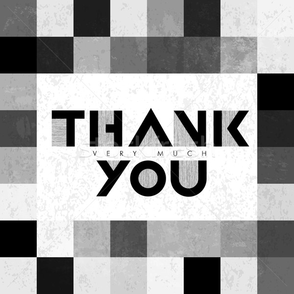 Thank you very much lettering on monochrome tiles. With grunge l Stock photo © pashabo