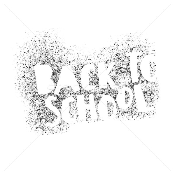 Back to school poster design. Stencil letters. Abstract logo for Stock photo © pashabo