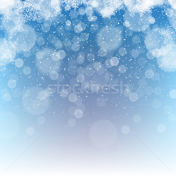 Merry Christmas Abstract Background. Snowfall illustration.  Stock photo © pashabo