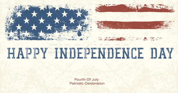 Fourth Of July Patriotic Celebration Background. Vector, EPS10 Stock photo © pashabo