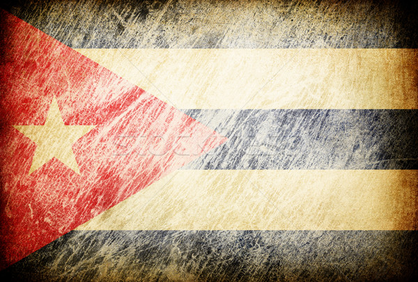 Grunge rubbed flag series of backgrounds. Cuba. Stock photo © pashabo